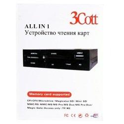 ��������� ���������� All-in-1, USB 2.0, USB ���� (3Cott) (������)
