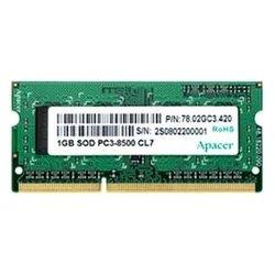 Apacer DDR3 1066 ECC SO-DIMM 1Gb