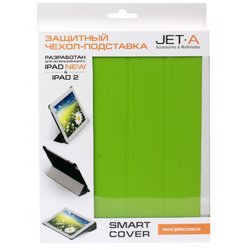 чехол для apple ipad 2, 3, 4 (jet.a ic10-28n smart cover) (зеленый)