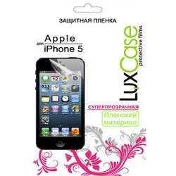 защитная пленка для apple iphone 5, 5s, se (luxcase) (суперпрозрачная)