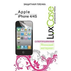 защитная пленка для apple iphone 4 (luxcase) (суперпрозрачная)
