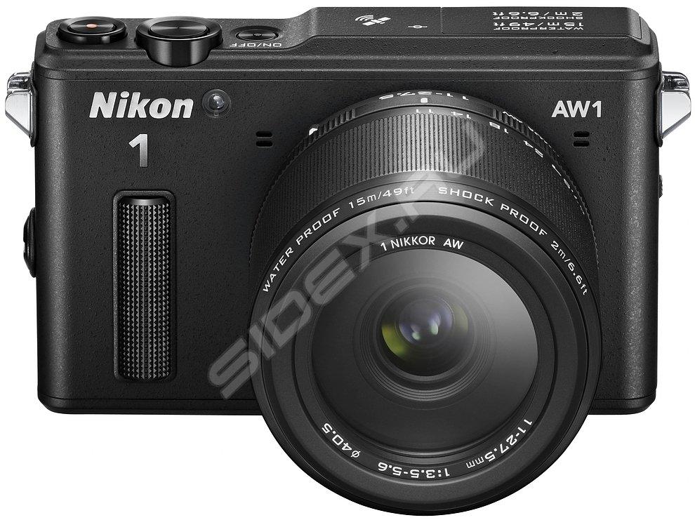Nikon 1 AW1 Kit (черный) - Фотоаппарат цифровой