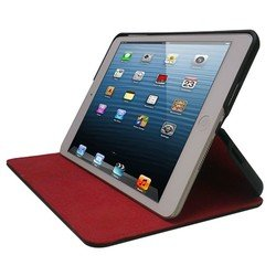 чехол для apple ipad mini (nhl cover red stitching) (черный)