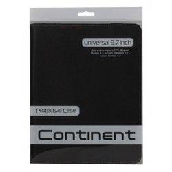 """Универсальный чехол для планшета 9.7"""" (Continent UTH-101 BL) (черный)"""