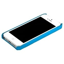чехол для apple iphone 5 (jisoncase back cover) (голубой)
