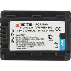 Аккумулятор для Panasonic HC-V10 1MOS HD, Panasonic HC-V100, Panasonic HC-V100M, Panasonic HC-V500, Panasonic HC-V500M, Panasonic HC-V700 (ACMEPOWER AP-VBK-360) (3400 mAh)