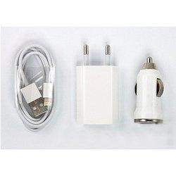 Автомобильное и сетевое зарядное устройство Lightning - USB для Apple iPhone 5, 5C, 5S, 6, 6 plus, iPad 4, Air, Air 2, mini 1, mini 2, mini 3 (Deppa SM000029)