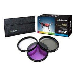 Набор фильтров для объектива с диаметром резьбы 72мм (Polaroid UV+CPL+FLD PL3FIL72)