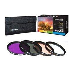 Набор фильтров для объектива с диаметром резьбы 55мм (Polaroid UV+CPL+FLD+WARMING PL4FIL55)