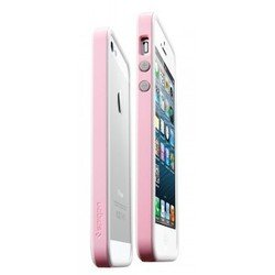 бампер для iphone 5 sgp neo hybrid ex snow (розовый)