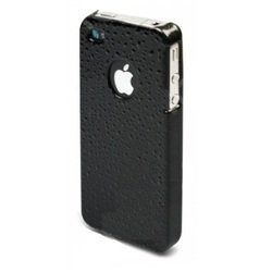 чехол для apple iphone 4, 4s (muvit rain glossy back cover) (черный)