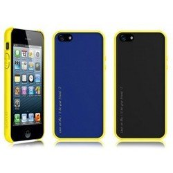 чехол для apple iphone 5, 5s (araree amy 1+2) (monaco blue + black)