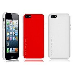����� ��� apple iphone 5, 5s (araree amy 1+2) (poppy red + white)