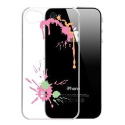 ����� ��� apple iphone 4, 4s (g-cube gpps-4p paint splash pink) (����������)