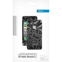 �������� �������� ������ 3d ��� apple iphone 4/4s (deppa mosaic 2) (�������)