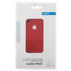 �������� �������� ������ ��� apple iphone 4, 4s (deppa) (carbon red)