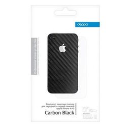 �������� �������� ������ ��� apple iphone 4, 4s (deppa) (carbon black)