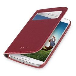 чехол для samsung galaxy s4 i9500 (ggmm sx02203 window-s4) (красный)