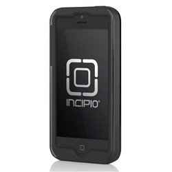 чехол для apple iphone 5, 5s (incipio iph-875 dual pro shine) (серо-черный)
