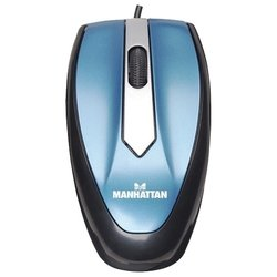 manhattan mo1 optical mini mouse (177955) blue usb