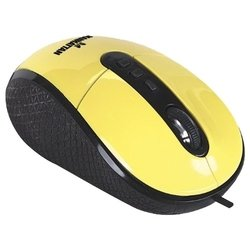 manhattan righttrack mouse (177689) yellow usb