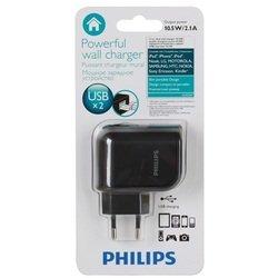 Универсальное сетевое зарядное устройство USB (Philips DLP2207/12)