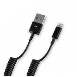 Дата-кабель Lightning - USB для Apple iPhone 5, 5C, 5S, 6, 6 plus, iPad 4, Air, Air 2, mini 1, mini 2, mini 3 (Deppa 72121) (черный)