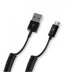 USB-кабель для цифровых устройств (Deppa 72123) (USB - micro USB, витой) (черный)