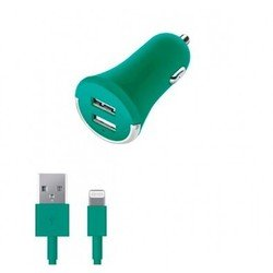 ������������� �������� ���������� 2 usb 2.1� + ����-������ 8-pin ��� apple (deppa ultra colors 11276) (���������)