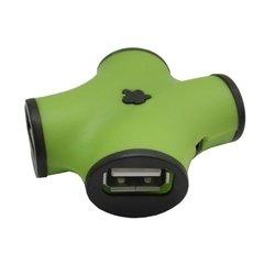Концентратор USB 2.0 (CBR CH-100) (зеленый)