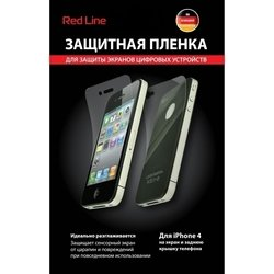 защитная пленка для apple iphone 4, 4s (red line yt000000307) (матовая) (экран + задняя панель)