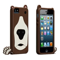 чехол для apple iphone 5, 5s (casemate creatures cm022551) (медведь)