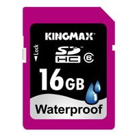 kingmax waterproof sdhc 16gb class 6
