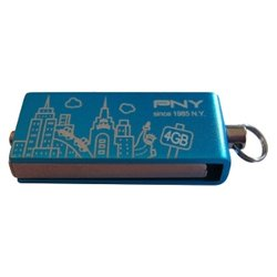 pny micro attache city series 4gb (голубой)