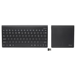 trust skid wireless keyboard & touchpad black usb