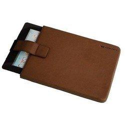 """Универсальный кожаный чехол для планшета 10.1"""" (CaseMate Signature Collection Pouch CM019682) (коричневый)"""