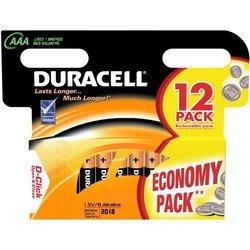 Алкалиновая батарейка ААА (Duracell LR03-12BL Basic) (12 шт)