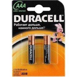 Алкалиновая батарейка ААА (Duracell LR03-2BL Basic) (2 шт)