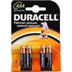 Алкалиновая батарейка ААА (Duracell LR03-4BL Basic) (4 шт)