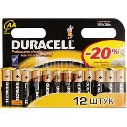 Алкалиновая батарейка АА (Duracell LR6-12BL Basic) (12 шт)