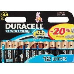 Алкалиновая батарейка АА (Duracell LR6-12BL Turbo) (12 шт)