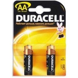Алкалиновая батарейка АА (Duracell LR6-2BL-2 Basic) (2 шт)