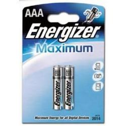 алкалиновая батарейка ааа (energizer maximum lr03/e92 fsb2) (2 шт)