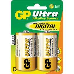 Алкалиновая батарейка D (GP 13AU-BC2 Ultra) (2 шт)