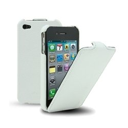 чехол-флип для apple iphone 4, 4s (melkco yt000000361) (белый)