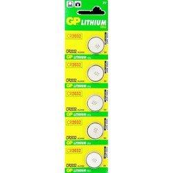 Литиевая батарейка CR2032 (GP CR2032-BC5) (5 шт)