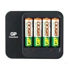 ����������� + �������� ���������� (GP PowerBank GPPB550GS250-2UE4) (4 �� AA, 2500 ���)