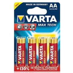 Алкалиновая батарейка AA (VARTA MAX TECH) (4 шт)