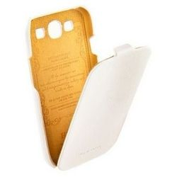 кожаный чехол для samsung galaxy s3 i9300, i9305 (hoco real leather case 12258) (белый)