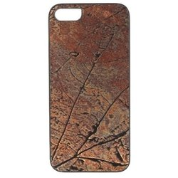 чехол-накладка для apple iphone 5, 5s (ikins iki5brleb) (bronze-leaf)